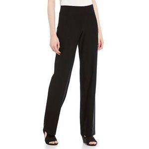 Eileen Fisher Straight Leg Pull On Black Pants EUC
